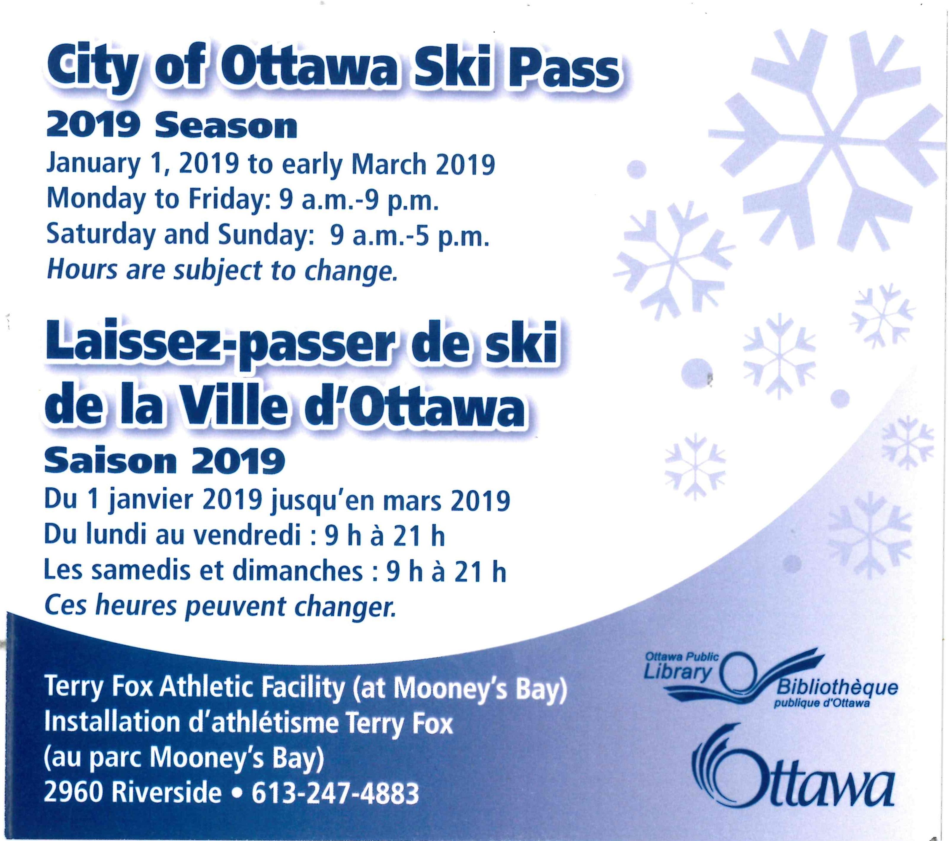 City of Ottawa Ski Pass