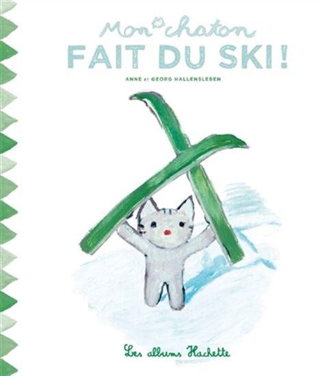Mon chaton fait du ski!