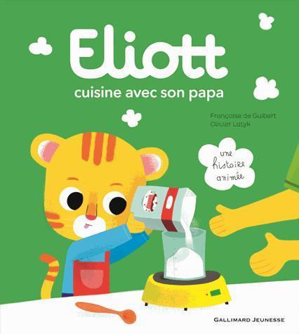 Image: Eliott cuisine avec son papa